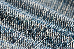 Blue jeans macro Stock Image