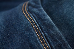 Blue Jeans macro Royalty Free Stock Images