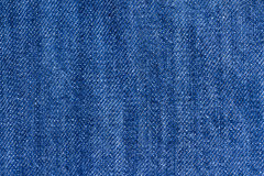 Blue jeans. Macro photograph of blue jeans Royalty Free Stock Images