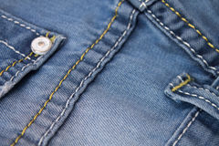 Blue Jeans macro 2. Royalty Free Stock Images