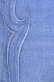 Blue Jeans mit Muster Stockbilder