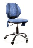 Blue jeans office revolving chair Stock Images