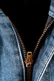 Blue jeans with open zipper Royalty Free Stock Images