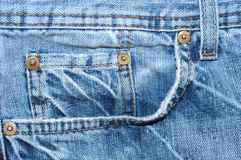 Blue jeans outerwear (clothes). Stock Photography