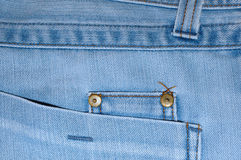Blue jeans outerwear (clothes). Royalty Free Stock Photos