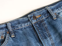 Blue Jeans. A pair of denim blue jeans close up Stock Image