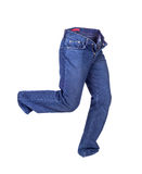 Blue jeans pants isolated. Royalty Free Stock Photos