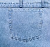 Blue Jeans Pocket Royalty Free Stock Photo