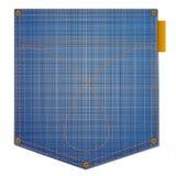 Blue jeans pocket Royalty Free Stock Image