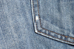 Blue Jeans with pocket Royalty Free Stock Photography