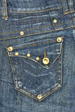 Blue jeans pocket Royalty Free Stock Image