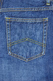 Blue jeans pocket Stock Photos