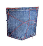 Blue jeans pocket Royalty Free Stock Photography