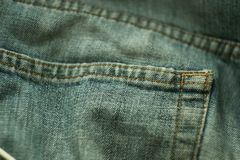 Blue jeans pocket Stock Photography
