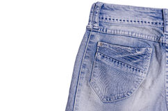 Blue jeans pocket. Blue jeans. Blue jeans pocket royalty free stock photo