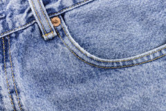 Blue jeans. Pocket of the blue jeans Royalty Free Stock Photography