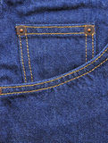 Blue jeans with pocket for background Royalty Free Stock Photo