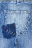 Blue jeans pocket Stock Image
