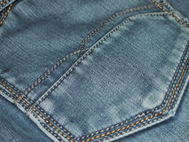 Blue jeans. Pocket on blue jeans for backgrounds and textures Royalty Free Stock Photography