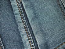 Blue jeans. Pocket on blue jeans for backgrounds and textures Royalty Free Stock Photos
