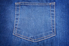 Blue jeans pocket close up Royalty Free Stock Images