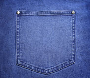 Blue jeans pocket close up Stock Photo