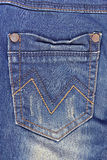 Blue jeans pocket. Stock Images