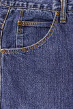 Blue jeans pocket Royalty Free Stock Photos