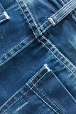 Blue jeans pocket closeup Stock Photography