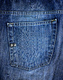Blue jeans pocket Stock Images