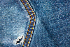 Blue jeans pocket closeup Stock Photography