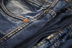 Blue jeans with pocket Royalty Free Stock Photo