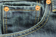 Blue jeans pocket Stock Photo