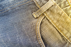 Blue jeans pocket Royalty Free Stock Images