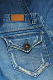 Blue jeans pocket. Royalty Free Stock Photography