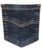 Blue jeans pocket Stock Images