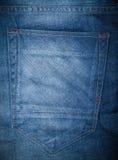 Blue jeans pocket Stock Image