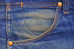 Blue jeans pocket. Stock Photography