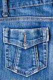 Blue jeans pocket. Stock Images