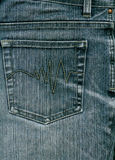 Blue jeans with pocket to background. Stock Images