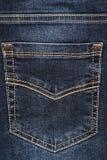 Blue jeans pocket. Royalty Free Stock Image