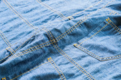 Blue jeans pockets Royalty Free Stock Photography
