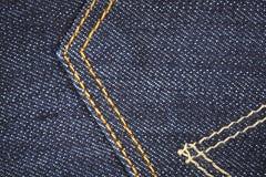 Blue Jeans, rückseitige Tasche Stockbild