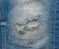 Blue  jeans ripped Stock Photography