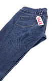 Blue jeans sale Royalty Free Stock Photography