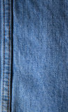 Blue jeans seam background Royalty Free Stock Photos