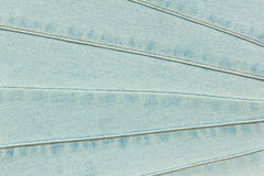 Blue Jeans with Seams Texture Royalty Free Stock Images