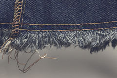 Blue jeans sew closeup texture of fashion jeans design Stock Photography