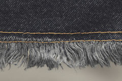 Blue jeans sew closeup texture of fashion jeans design Royalty Free Stock Photos
