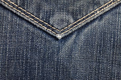 Blue jeans sewing line Stock Images